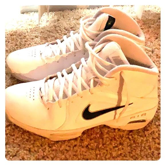 white basketball high tops